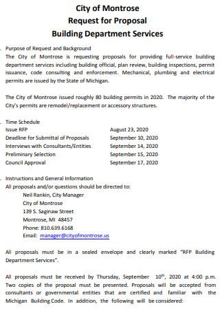 Building Department Services Proposal