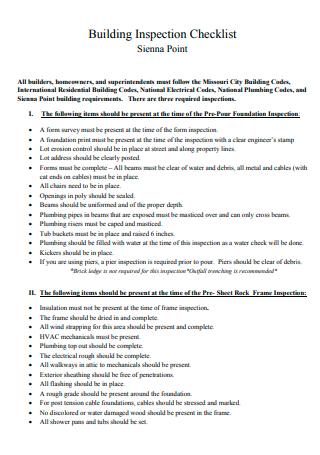 Building Inspection Checklist in PDF