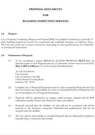 Building Inspection Service Proposal