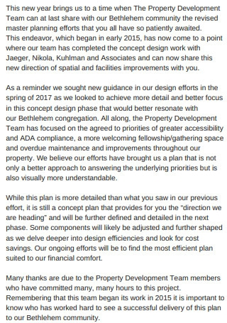 Building Master Plan Proposal