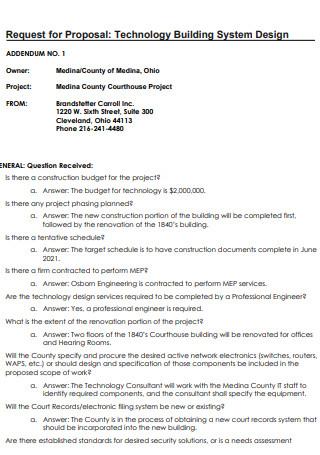 Building System Design Proposal