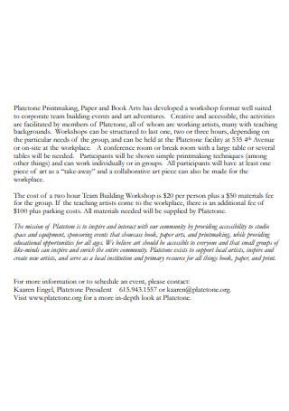 Building Workshop Proposal