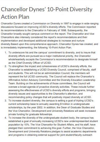 Chancellor Dynes10 Point Diversity Action Plan