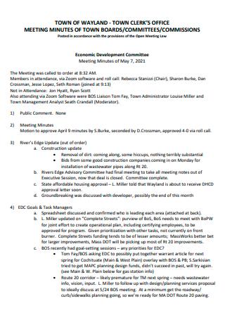 Clerks Office Meeting Minutes