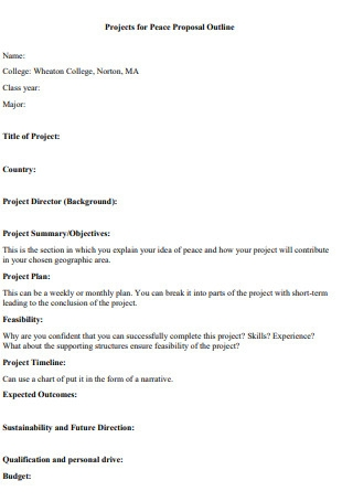 College Project Proposal Outline