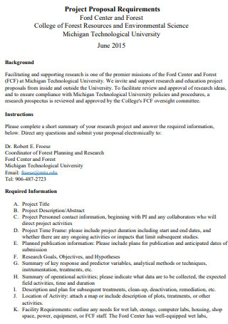 College Project Proposal Requirement