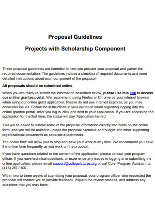 College Projects with Scholarship Proposal