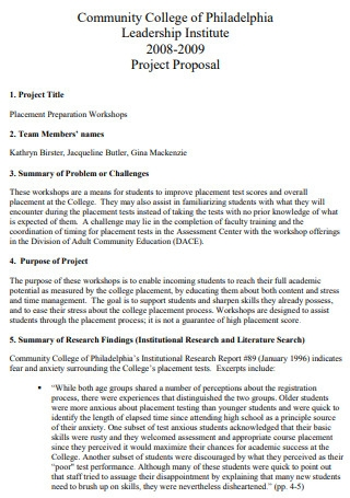 Community College Project Proposal