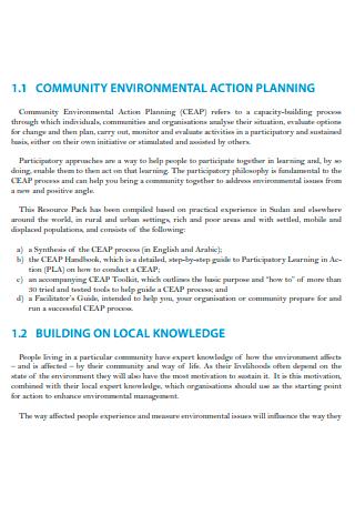 Community Environmental Action Planning