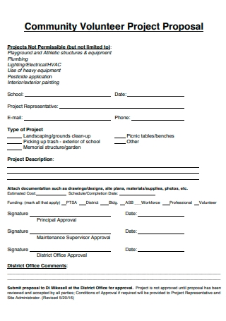 Community Volunteer Project Proposal
