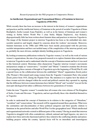 Comparative History Research Proposal
