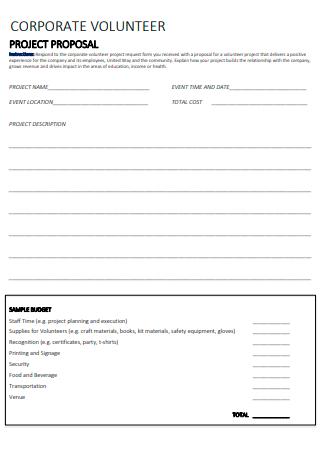Corporate Volunteer Project Proposal