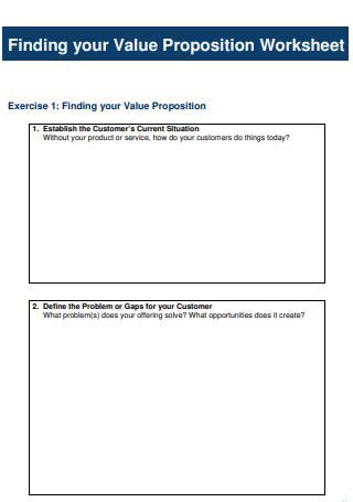 Customer Value Proposition Worksheet