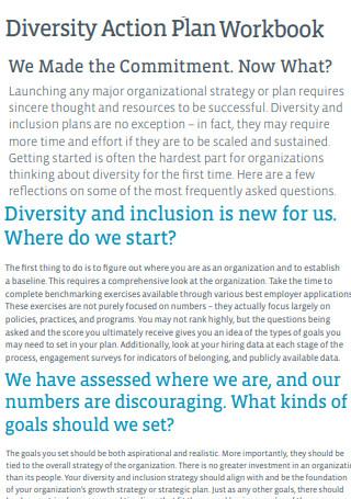 Diversity Action Plan Workbook