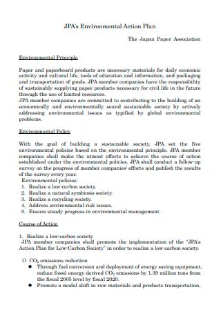 Draft Environmental Action Plan