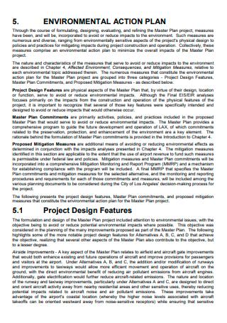 Environmental Action Plan Template