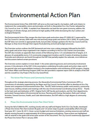 Environmental Action Plan in PDF
