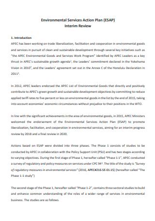 Environmental Services Action Plan