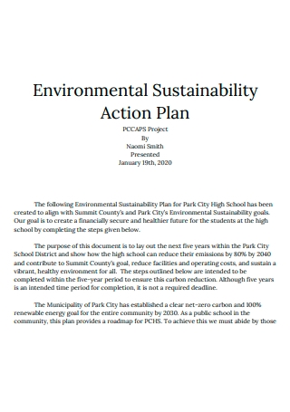 Environmental Sustainability Action Plan