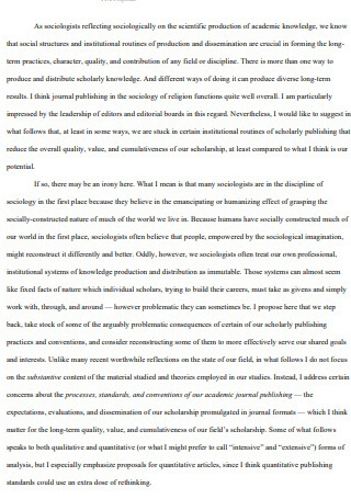 Five Proposal for Reforming Journal Article