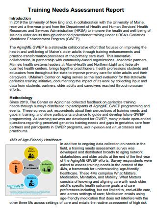 Formal Training Needs Assessment Report