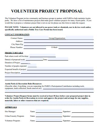Formal Volunteer Project Proposal