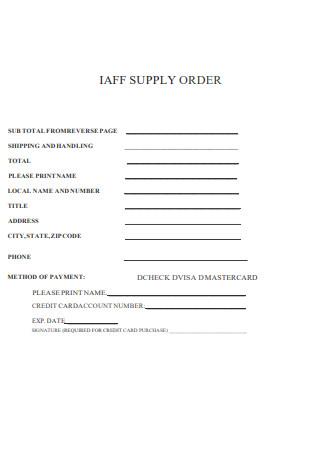 Free Supply Order