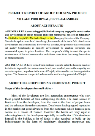 Group Housing Project Report