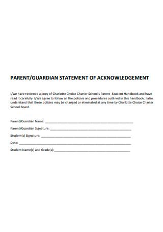 Guardian Statement of Acknowledgement