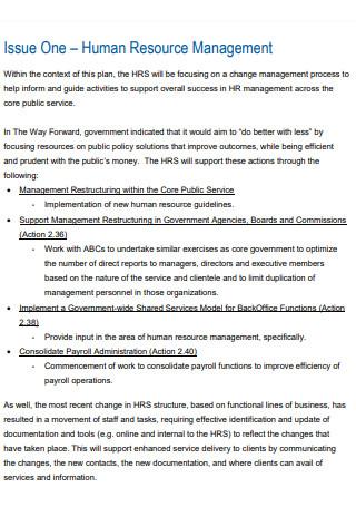HR Secretariat Business Plan