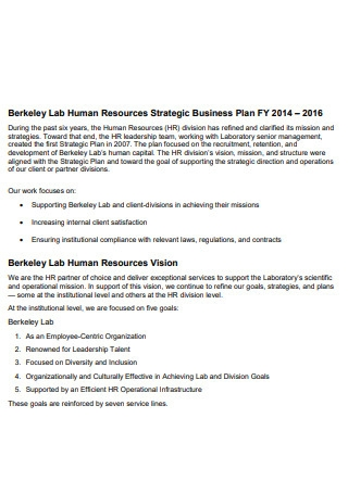 HR Strategic Business Plan