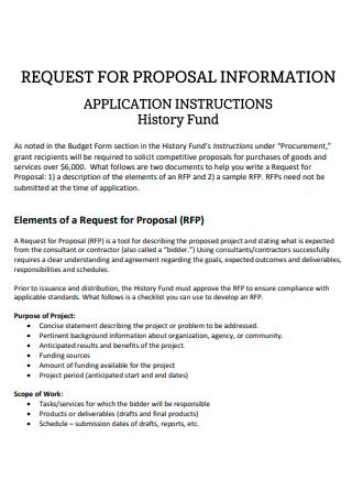 History Fund Proposal