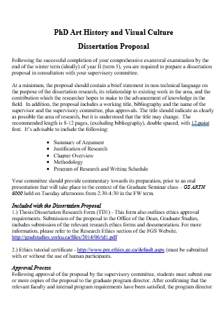 History and Visual Culture Dissertation Proposal