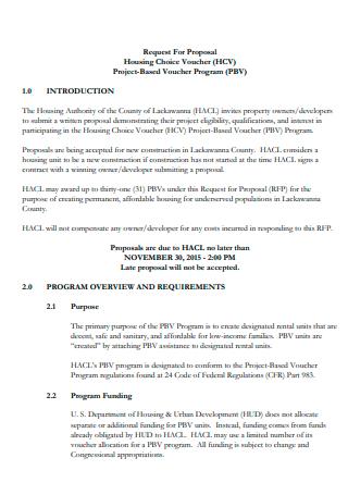 Housing Choice Voucher Project Proposal