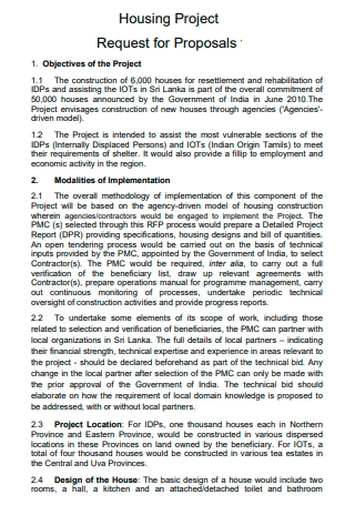 Housing Project Proposal in PDF
