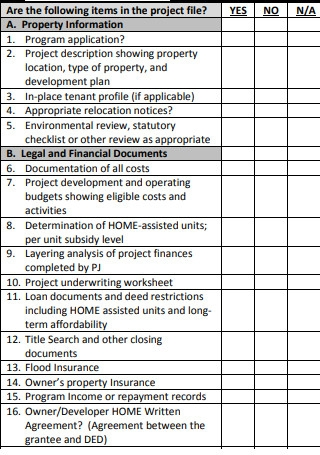 Initial Rental Property Checklist