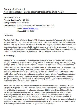 Interior Design Marketing Project Proposal