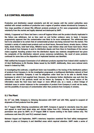 International Outbreak Investigation Report