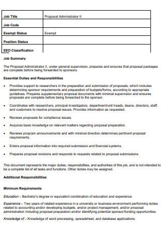 Job Title Proposal