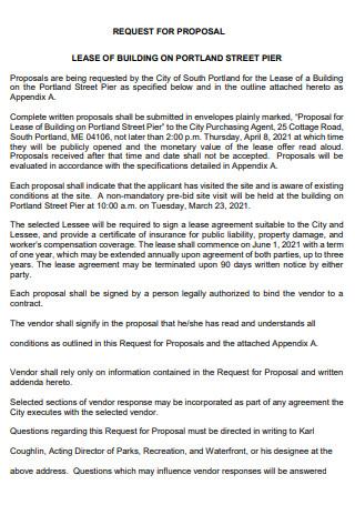 Lease Building Request Proposal