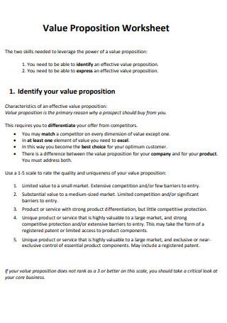 MarketingExperiments Value Propositions Worksheet