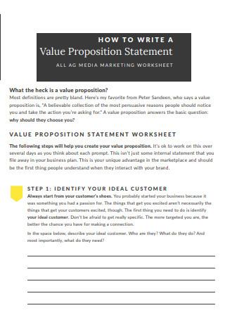 Media Marketing Value Proposition Worksheet