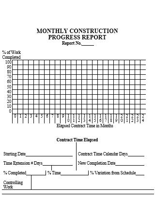 Monthly Construction Progress Report