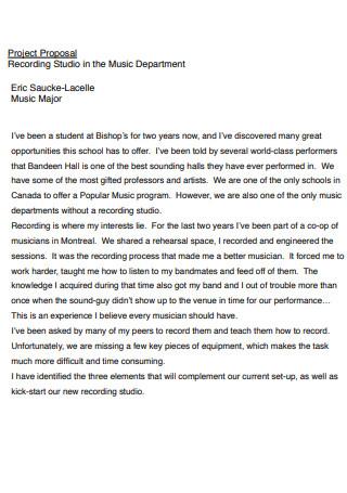 Music Business Studio Proposal