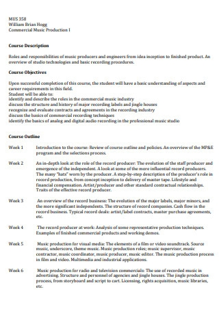 Music Production Business Proposal