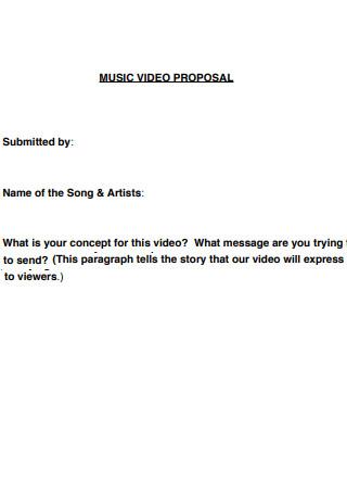 Music Video Proposal