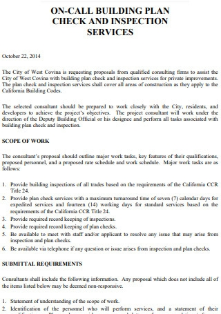 On Call Building plan Proposal