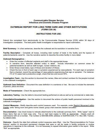 Outbreak Investigation Report