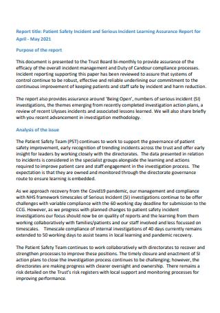 Patient Incident Report in PDF