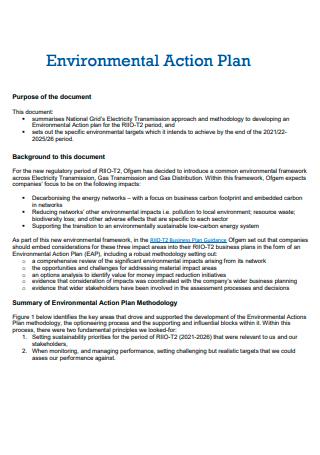 Printable Environmental Action Plan
